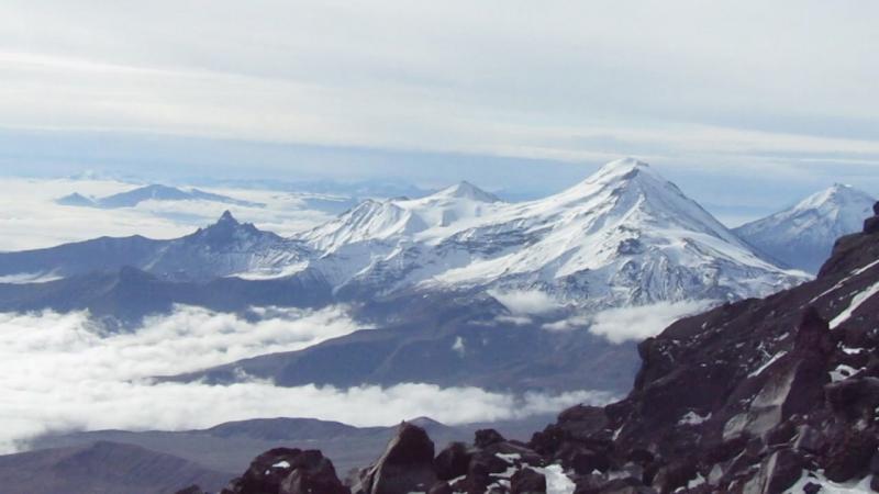 Спуск по леднику Эрмана