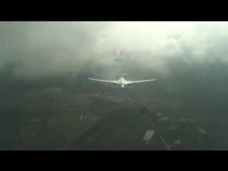 Дозаправка в облаках #Ту160 специализированным самолётом-топливозаправщиком #Ил78 #АрмияРоссии