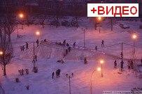 04 января 2012 - Светящаяся ледяная горка в Тольятти