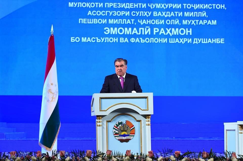 Вырезки из встреч Эмомали Рахмона с активом города Душанбе, 15 февраля 2017 года