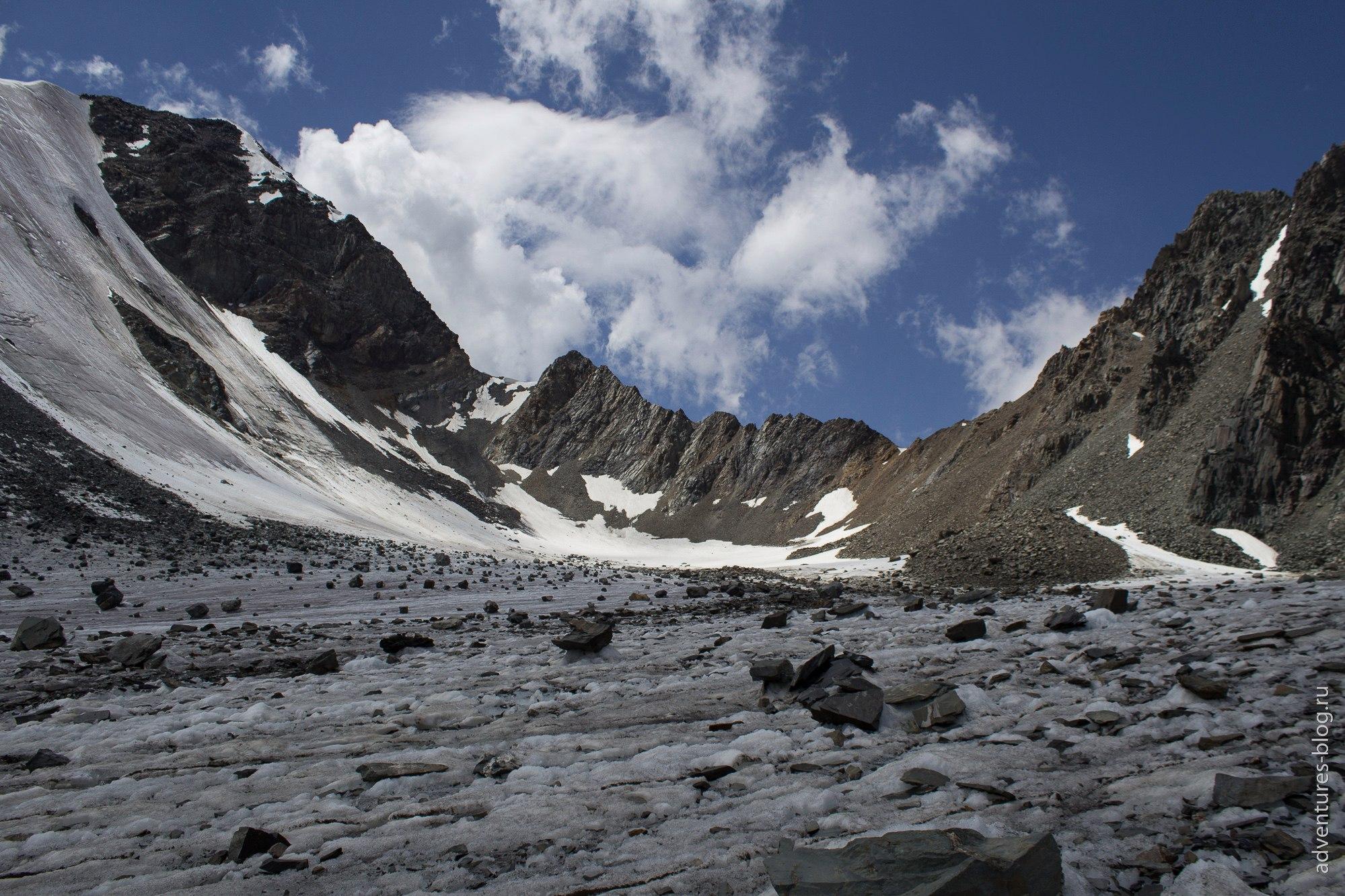 перевал Нижний Шавлинский с обратной стороны
