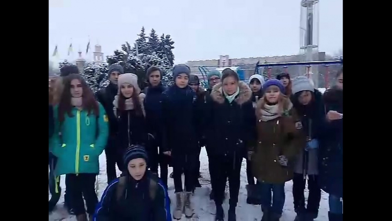 Access pupils in Slovyansk have learnt some rhymes about winter weather