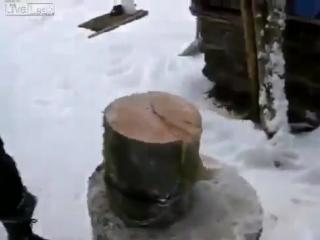 Как рубить дрова без возни