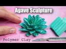 How to Sculpt Succulents Queen Victoria Agave Polymer Clay Tutorial
