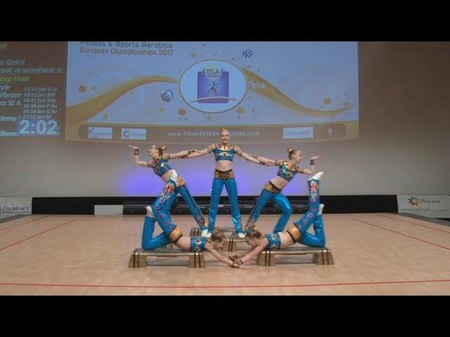 FISAF Fitness Sports Aerobics European Championships 2017. FIN junior Petite Step: Zefir (RUS)