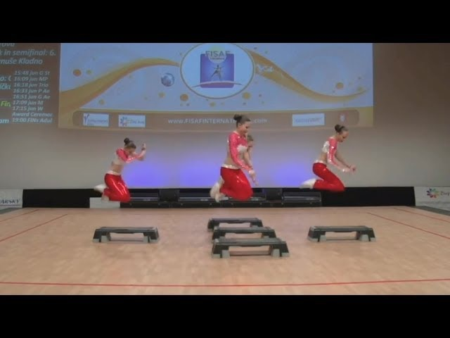 FISAF Fitness Sports Aerobics European Championships 2017. FIN junior Petite Step: Grazia (RUS)
