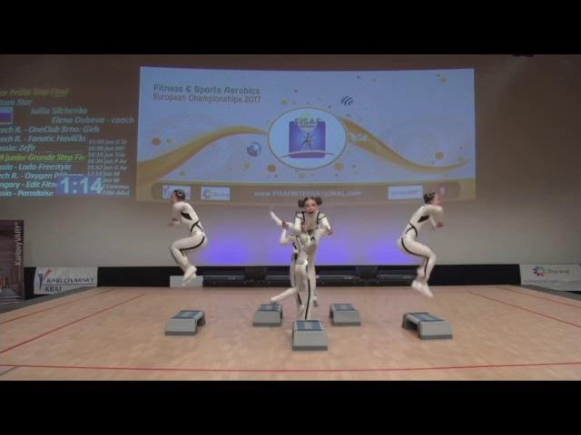 FISAF Fitness Sports Aerobics European Championships 2017. FIN junior Petite Step: Atom Star (RUS)
