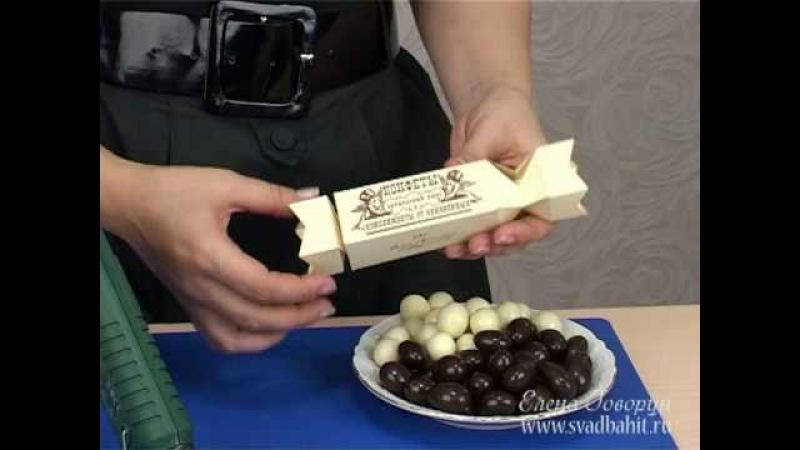 Конфеты-подарочная упаковка (схема на: www.svadbahit.ru)