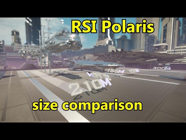 Star Citizen RSI Polaris size comparison
