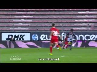 Шарлеруа Заря 0-2.Лига Европы 2015/16.3-й кв.раунд.1-й матч.Обзор матча