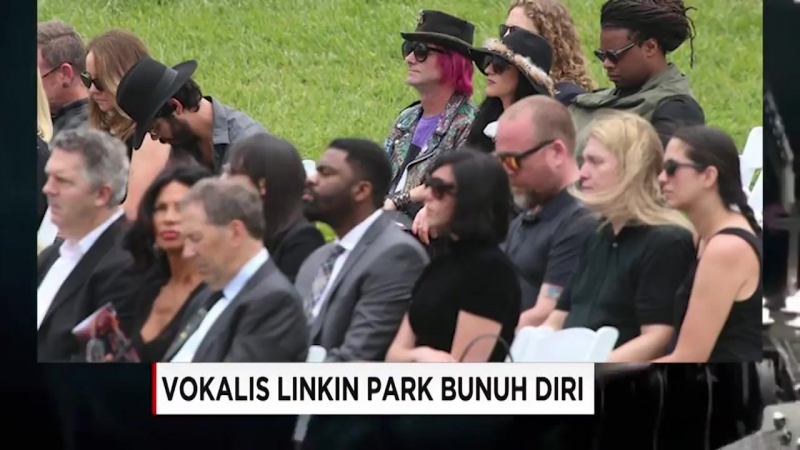 The funeral process of Linkin Park vocalist Chester Bennington in the Coroner region of Los Angeles
