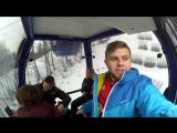 Зимний вечер в Гаграх.Олимпийский Парк.Роза Пик высота 2320 метров.Бассейн в горах.#СвязьКороче Сочи Часть 1