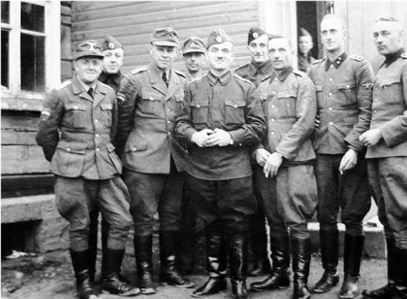 Штаб 1–й Русской бригады СС «Дружина» (позже 1–я Антифашистская партизанская бригада), Витебская область, 1943 год/