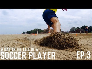 Beach Training, Plyometrics, Free Kicks & Yoga Routine | A Day In The Life Of A Soccer Player | Ep.3