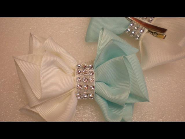 Бантики из Репсовой Ленты. КАНЗАШИ Своими Руками. DIY Cute Hair Bow Kanzashi Ribbon Fower
