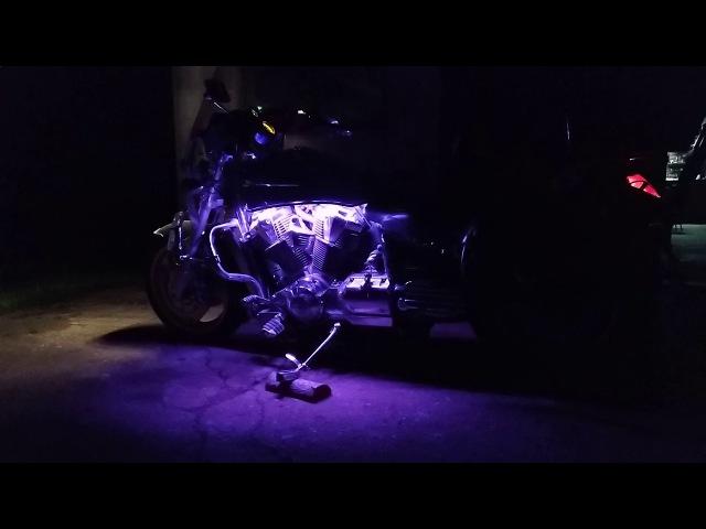 Honda VTX1800 | Dynamic Lighting Engine | Динамическая Подсветка Двигателя | №_5