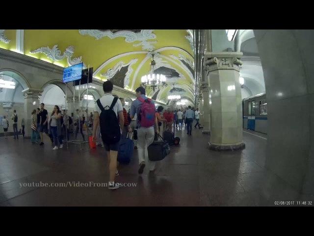 Станция метро Комсомольская (кольцевая), выход к Ленинградскому вокзалу