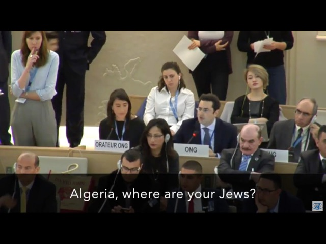 Algeria, where are your Jews — Hillel Neuer silences the U.N.