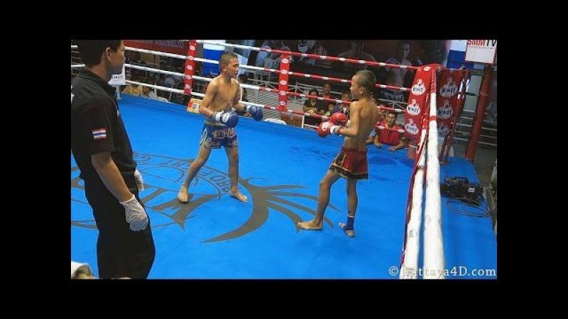 Hard Junior MuayThai Fight at Superfight Thepprasit Pattaya October 2013