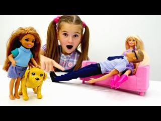 Игры #БАРБИ ? ЧЕЛСИ учится ухаживать за СОБАКОЙ! ? Развивающий мультик с Кукла ...