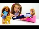 Игры БАРБИ 🎀 ЧЕЛСИ учится ухаживать за СОБАКОЙ! 🐕 Развивающий мультик с Кукла ...