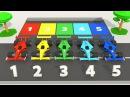 Парковка Машинки Изучаем Цвета Гоночные Машинки Учим цвета и цифры Считаем до 10