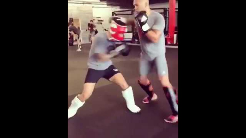 Robbie Lawler Back in the Gym Sparring. Training at Henri Hooft's New Gym