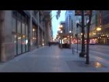 Чикаго - Прогулка от Восточной Рэндольф Стрит до Западной Вашингтон Стрит.