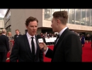 Benedict Cumberbatch talks to Roman on the red carpet #BAFTA