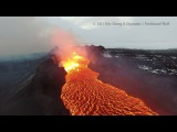 Iceland Volcano Flight with Two DJI Inspire 1 quadcopters