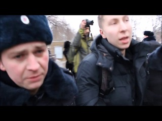 """В Москве разгон митинга под крики """"Путин – гибель Украины!"""""""