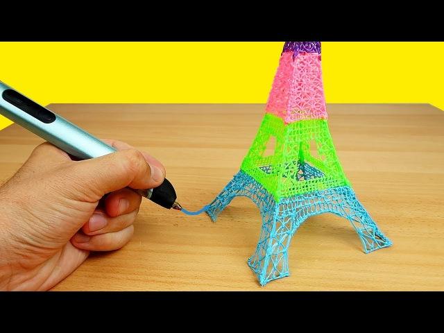 Новая 3D РУЧКА. Рисую Эйфелеву башню!