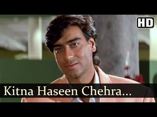 Kitna Haseen Chehra   Dilwale Songs   Ajay Devgan   Raveena Tandon   Kumar Sanu   Love   Filmigaane