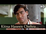 Kitna Haseen Chehra | Dilwale Songs | Ajay Devgan | Raveena Tandon | Kumar Sanu | Love | Filmigaane