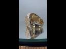 Мужской перстень в виде черепа. Выполнен из лимонного золота весом 30 грамм. Изготовлен по макету нашего друга.