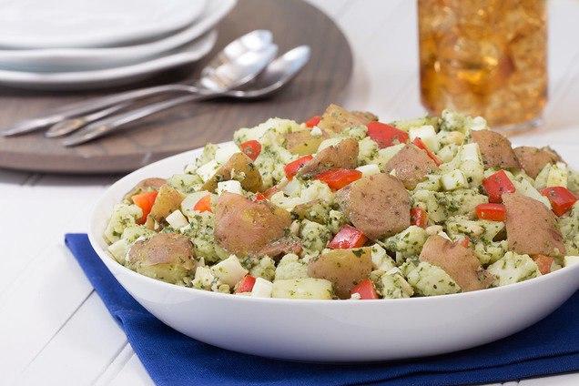 Рецепт салата из картофеля с оливковым маслом