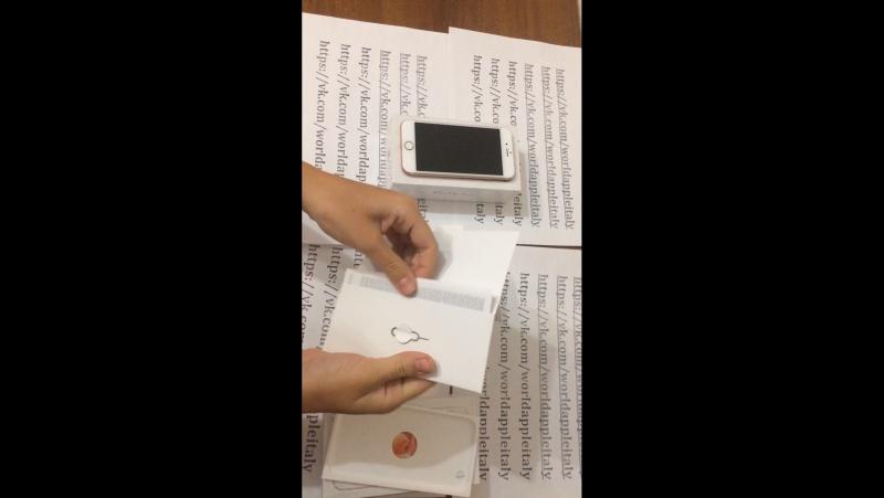 Распаковка конкурсного iPhone 6s