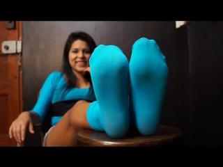 Andrea turquoise socks