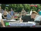 День ВДВ - Корреспондента НТВ избили во время прямого эфира с празднования дня ВДВ