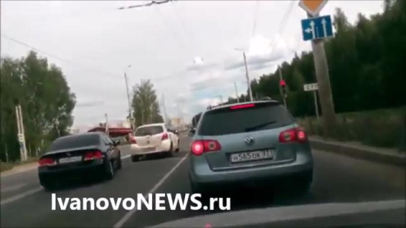 Иваново Через двойную сплошную на красный