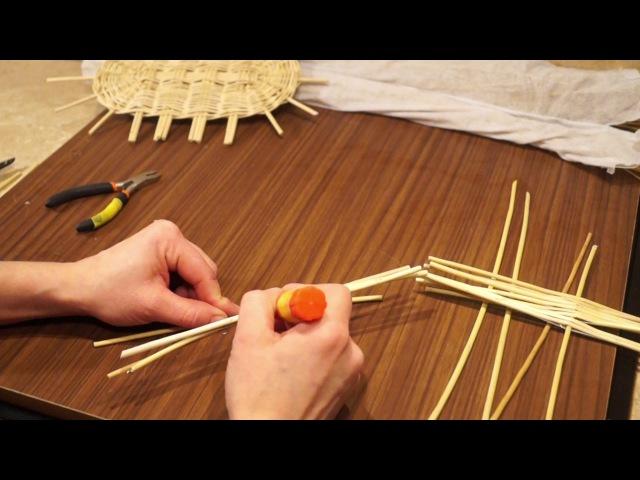Русская ива. 13 урок. Плетение овального донышка.