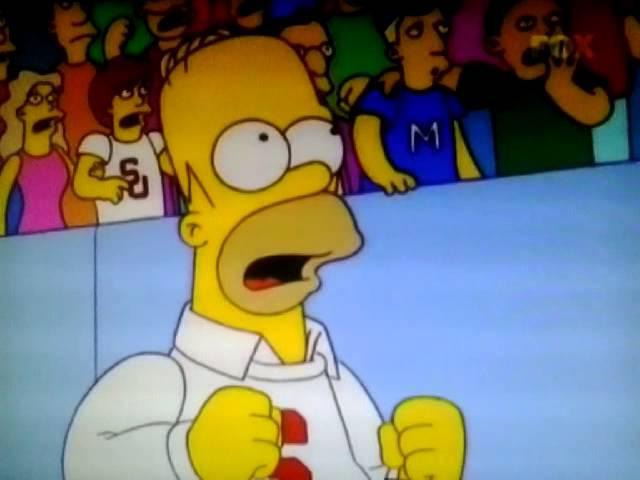 Los Simpson - 11x11 Cara fuera - Lubchenko golpeando (español, TV)