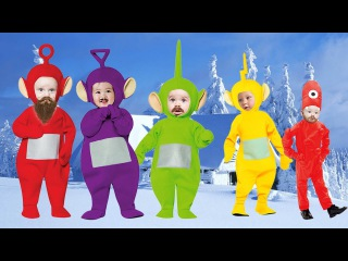 Bad Baby into Teletubbies Costume Finger Family Songs - Daddy Finger Family Nursery Rhymes Lyrics