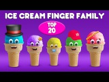 Ice Cream Finger Family Song  Top 20 Finger Family Songs  Daddy Finger Rhyme
