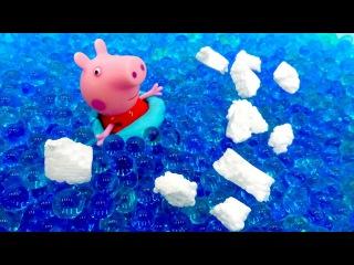Игра свинка пеппа папа свин в бассейне