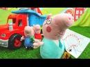 Мягкие игрушки Новая серия СВИНКА ПЕППА 🐷 PeppaPig папа Свин и другие ИДУТ В ПОХОД