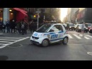 RARE CATCH OF THE BRAND NEW NYPD SMART CAR UNIT RESPONDING MODIFIED AGAINST TRAFFIC IN NYC.