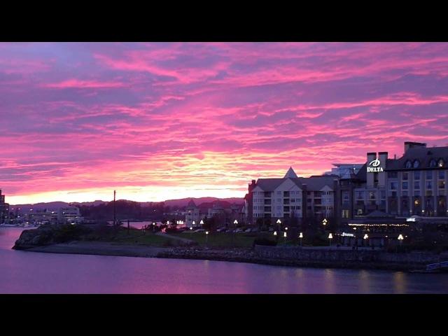 Must see! 2015 02 27 Magic Sunset in Victoria BC - магический закат в Виктории Британская Колумбия