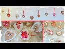 Tutorial: Cuori Decorativi Shabby Chic Country Chic | Riciclo Creativo | Ghirlanda
