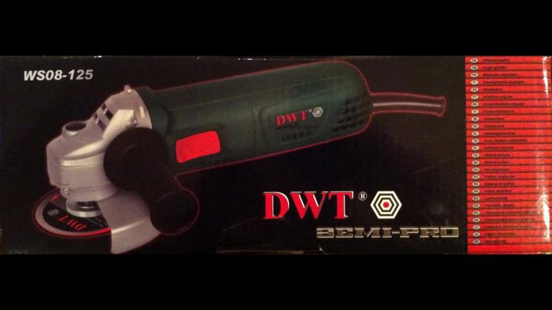 УШМ/Болгарка DWT WS08-125 Обзор(Углошлифовальная Машина DWT/ДВТ 125)Ч.1